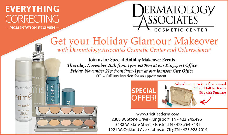 Dermatology Associates Holiday Glamour Makeover Specials
