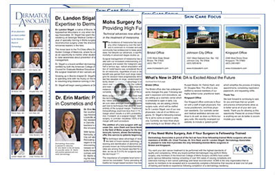 Dermatology Associates Skin Care Focus Newsletter