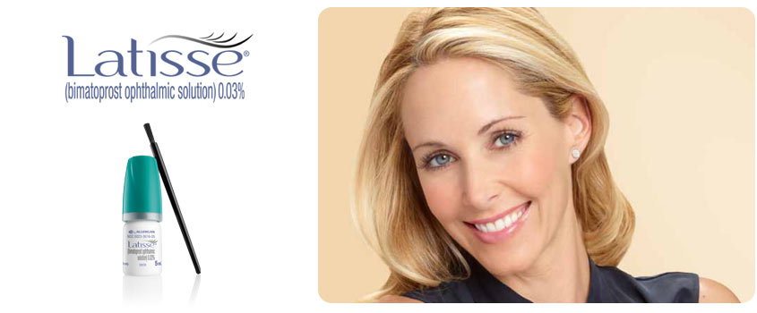 Latisse products for eyelashes from the Cosmetic Center at Dermatology Associates of the Tricities